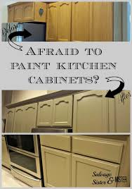 Afraid To Paint Kitchen Cabinets Salvage Sister And Mister - Diy paint kitchen cabinets