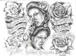 chicano gangsta tattoo drawing photo 2 photo pictures