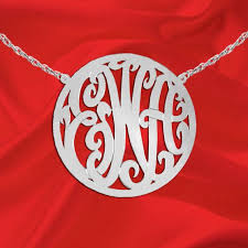2 Inch Monogram Necklace The 25 Best Sterling Silver Monogram Necklace Ideas On Pinterest