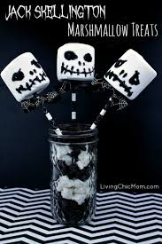 skellington marshmallow treats from nightmare before