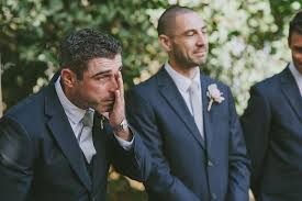 wedding groom why do grooms cry when they see their brides in wedding gowns