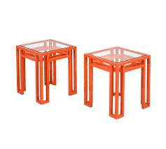 martini orange small martini table u2013 billy baldwin studio