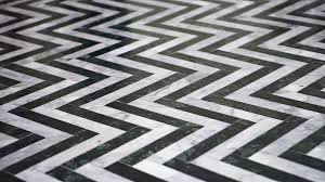 zigzag black and white marble floor pattern stone stock video