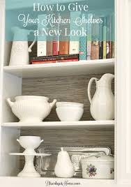 kitchenshelves com how to give your kitchen shelves a new look bluesky at home