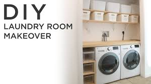 diy laundry room makeover youtube
