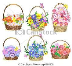 basket bouquet stock illustration images 971 basket bouquet