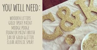 diy how to make glitter letters eat yourself skinny