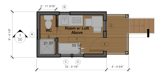 sample floor plans for the 8 28 coastal cottage tiny house design