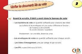assesseur titulaire bureau de vote bien gérer le jour du vote ppt télécharger