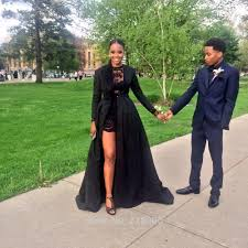 com buy 2 pieces black lace short prom dresses long sleeves with