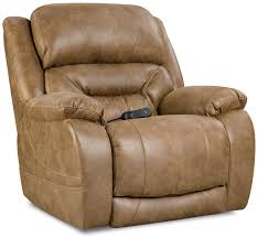 Homestretch Reclining Sofa by Enterprise Power Recliner In Saddle Frontroom Furnishings