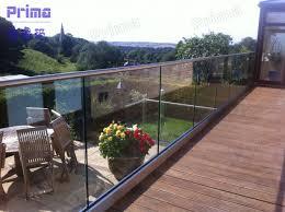 high quality u shape channel profile glass balcony railings