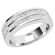 white gold wedding rings row diamond set wedding ring in 18ct white gold