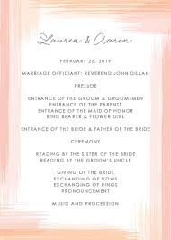 wedding programs wedding programs match your colors style free basic invite