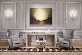 luxury hotels in downtown d c the ritz carlton washington d c washington dc hotel two armchairs on either side of a console table in front of a wall with two