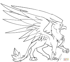 griffin coloring page free printable coloring pages