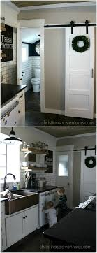 barn door for kitchen cabinets 60 diy barn door projects to add some farmhouse flair to