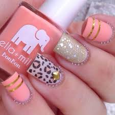 26 cool metallic nail designs for 2017 pink leopard print pink