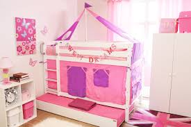 Low Bunk Bed With Trundle ColorWhite - Hello kitty bunk beds