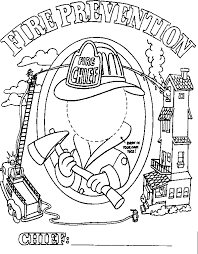 house of hugs fire safety coloring page health and fire safety