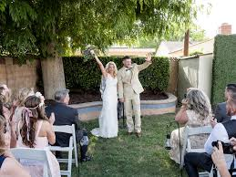exterior backyard wedding ceremony backyard wedding yard wedding