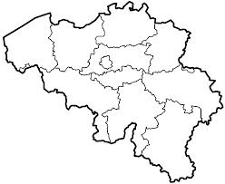 blank map belgium