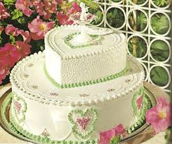 www wedding pink and green wedding cake