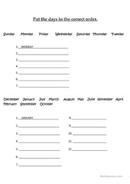 53 free esl months of the year worksheets