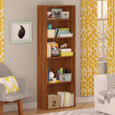Tall Narrow Bookcases by Good To Go 5 Shelf Bookcase Alder