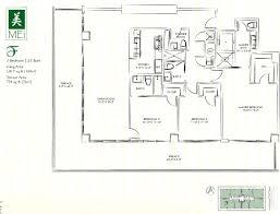3 Bedroom Condo Floor Plan by Mei Miami Beach Condo 5875 Collins Florida 33140 Apartments