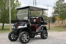 e z go rxv burgundy black silver lifted custom golf cart