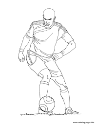 zinedine zidane france soccer coloring pages printable