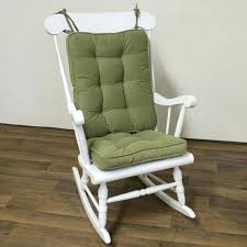 indoor rocking chair cushion sets standard white rocking chair