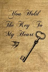 wedding quotes key instant you hold the key to my heart and print