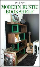 Easy To Build Bookshelf Diy Modern Rustic Bookshelf