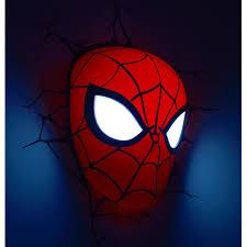 marvel spiderman led wall light lamp mask stickers new ebay marvel spiderman led wall light lamp mask
