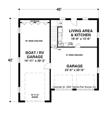 Floor Plan Source by Craftsman Style House Plan 1 Beds 1 00 Baths 870 Sq Ft Plan 56 610