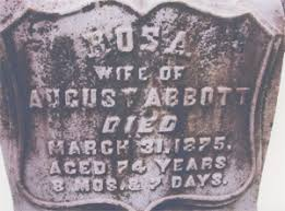headstone markers augustus and rosa ott abicht headstone markers abbott lavalle