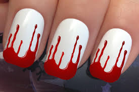 halloween nail art set 662 x 12 blood drip tips water transfer