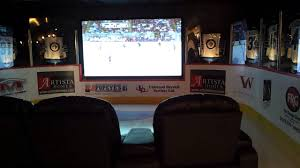 hockey theme media room youtube