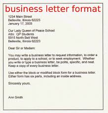 Sample Business Email Format by Business Letter Format Samples Business Letters