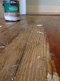Painting Laminate Floor How To Paint A Damaged Wood Floor Rehab Dorks