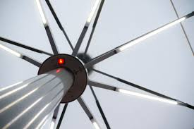 Patio Umbrellas With Led Lights by Patio Umbrella Light Elegance Caravita