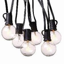 g40 outdoor patio string lights set 7 5meter with 25 g40 frosted