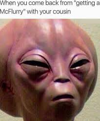 Stoned Alien Meme - trending current events