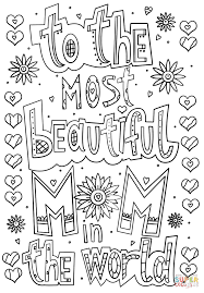 mom coloring pages to the most beautiful mom in the world doodle coloring page free