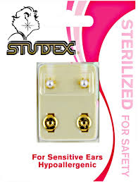 sterilized ear piercing studs studex white pearl sterilized piercing earrings at sally beauty