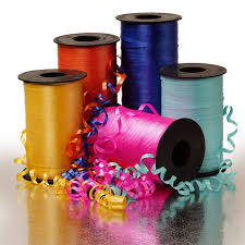 plastic ribbon crimped curling ribbons