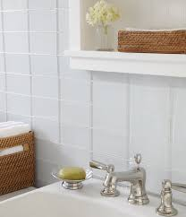 bathrooms with white subway tile and grey grout tags white