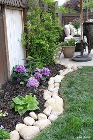 Bush Rock Garden Edging River Rock Planter Border Planters Rivers And Rock